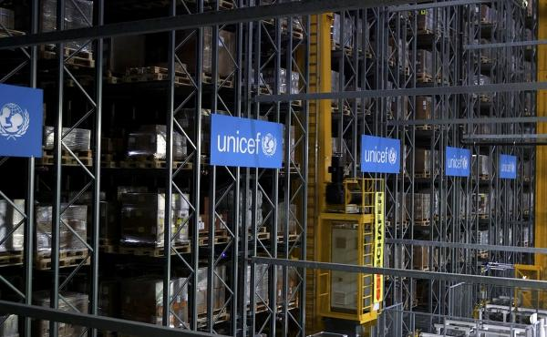 UNICEF said Monday it plans to stockpile 520 million syringes in its warehouses in preparation for an eventual COVID-19 vaccine. This warehouse in Copenhagen, Denmark, is part of the agency's infrastructure to deliver medical supplies around the world.