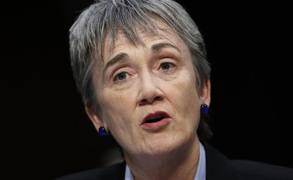 Air Force Secretary Heather Wilson, shown here at a 2017 hearing on Capitol Hill in Washington, has said she plans to resign.