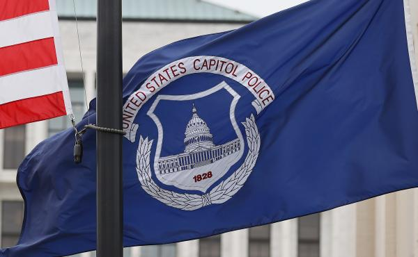 The U.S. flag and the U.S. Capitol Police flag were flown at half-staff after the death of Capitol Police officer Brian Sicknick. On Sunday, the FBI arrested two men who are accused of spraying chemicals on Sicknick and others during the Jan. 6 Capitol ri