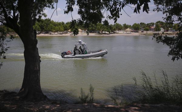 U.S. Border Patrol agents found four bodies near the Rio Grande river along Anzalduas Park, close to McAllen, Texas. In this file photo, a Border Patrol boat is seen on the river along Anzalduas Park.