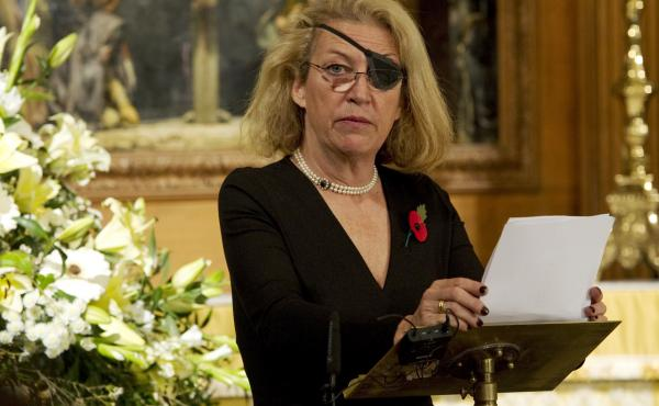 A U.S. court has ordered the Syrian government to pay $300 million for killing American journalist Marie Colvin in 2012. Colvin is seen here in London in 2010.