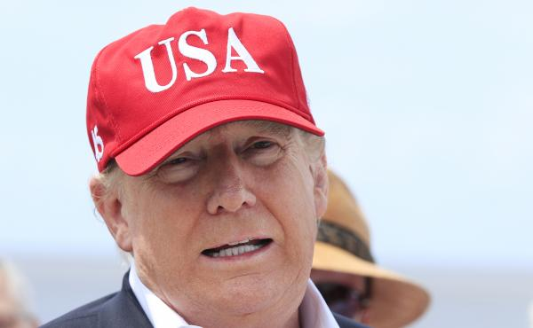 President Trump says he will close the United States' Southern border, or large sections of it, next week if Mexico does not immediately stop illegal immigration. Here Trump speaks to reporters during a visit to Lake Okeechobee and Herbert Hoover Dike at