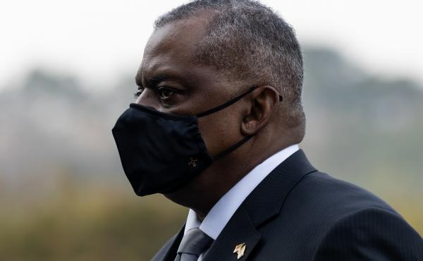 Lloyd Austin, U.S. secretary of defense, visits the National Cemetery in Seoul, South Korea, on Thursday. On his Asia tour, the defense chief made an unannounced visit to Afghanistan on Sunday.
