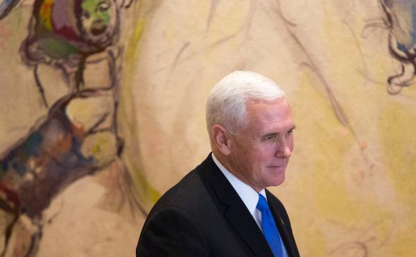 Vice President Pence addressed the Knesset, Israel's parliament, in Jerusalem on Monday. He said a new U.S. Embassy would open in the city by the end of next year.