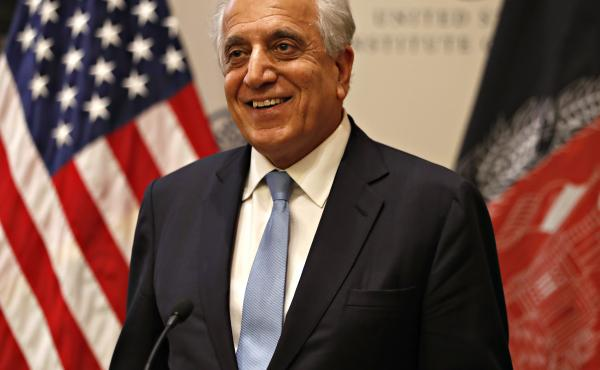 """In remarks at the U.S. Institute of Peace on Friday, Special Representative for Afghanistan Reconciliation Zalmay Khalilzad said a """"long agenda"""" of issues need to be resolved before a peace deal can be finalized."""