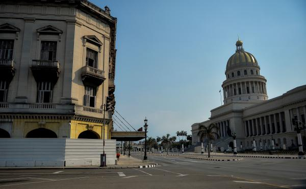 An empty street near the Capitol in Havana in May. The Trump administration plans to designate Cuba as a state sponsor of terrorism five years after it was removed from that U.S. list.