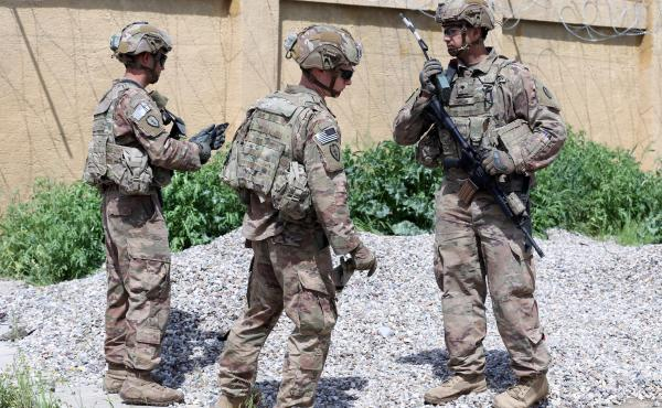 U.S. troops participated in a March handover to the Iraqi army in Kirkuk, Iraq. The U.S. plans to draw down its troop numbers in the country this month.