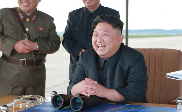 An undated picture released by North Korea's official Korean Central News Agency on Sept. 16 shows North Korean leader Kim Jong Un inspecting a launching drill of the Hwasong-12 ballistic missile at an undisclosed location. Kim vowed to complete North Kor