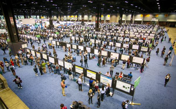 At Chicago's McCormick Place, neuroscientists from around the world presented their work to colleagues. But some researchers were denied entry because of the Trump administration's travel ban.