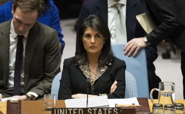 "U.S. Ambassador to the United Nations Nikki Haley warned that the U.S. ""will take note of each and every vote"" on a resolution on the decision to move the U.S. Embassy to Jerusalem."