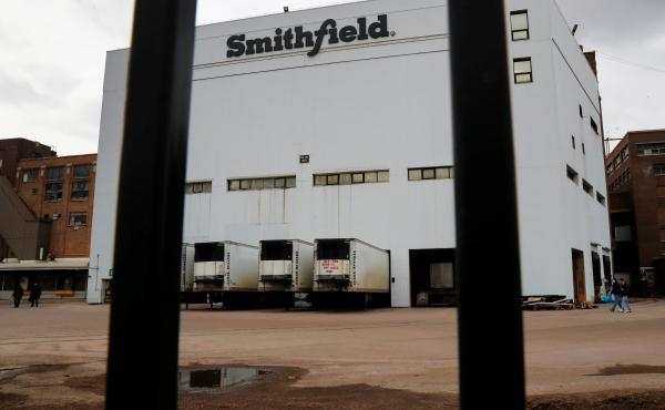 Hundreds of workers tested positive for COVID-19 at a Smithfield Foods hog-processing plant in Sioux Falls, S.D.