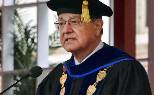 """Several hundred faculty had signed a letter saying University of Southern California President C.L. Max Nikias had """"lost the moral authority to lead."""""""