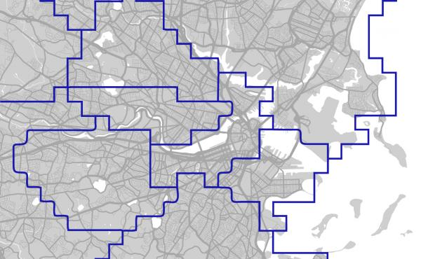 This map, created by Christo Wilson of Northeastern University, shows Uber surge price areas in Boston.