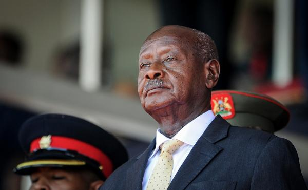 """Uganda's President Yoweri Museveni has been in power since 1986. His police chief has warned that anyone causing trouble on election day """"will regret being born."""" Museveni is facing a formidable electoral challenge from Bobi Wine, who has been arrested mu"""