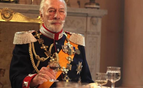 Christopher Plummer as the exiled Kaiser Wilhelm II in The Exception — a man with the outward trappings of power, who hasn't made a real decision in decades.