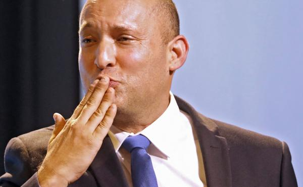 Naftali Bennett, a right-wing political leader, is seeking to form a coalition with centrist politician Yair Lapid to replace Israeli Prime Minister Benjamin Netanyahu.