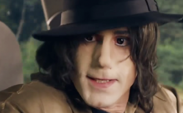 A screenshot from the British TV show Urban Myths shows actor Joseph Fiennes portraying singer Michael Jackson.