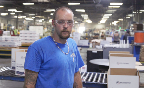 Philip Bennett repairs machines at Mid Continent Nail in Poplar Bluff, Mo. A self-proclaimed Democrat who voted for Donald Trump in 2016, Bennett's support for the president has waned since Trump instituted steel tariffs earlier this year.