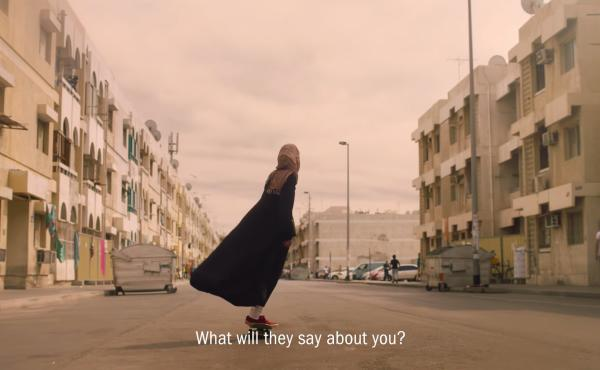 """In an ad targeting female athletes in the Middle East, Nike asks """"What will they say about you?"""""""
