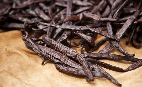 Vanilla is seemingly a prima donna spice because its pods have to be hand-pollinated and then boiled and dried in the direct sun for only one hour.