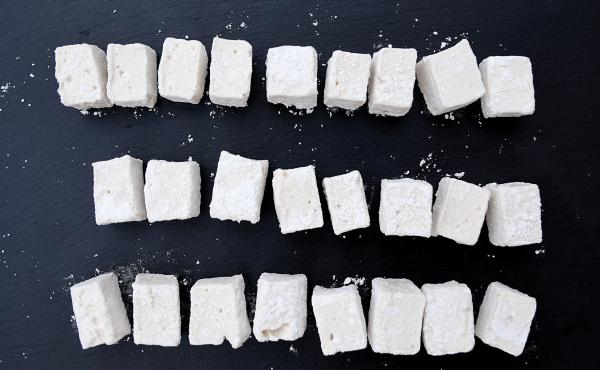 Marshmellows made from aquafaba