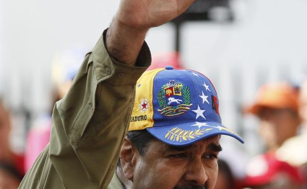 Venezuela's President Nicolas Maduro addresses supporters during a rally in Caracas, Venezuela, earlier this month.