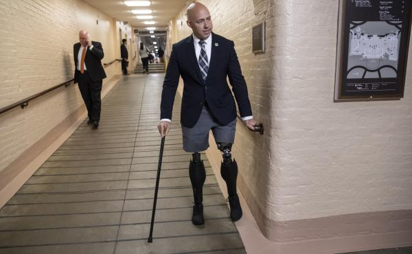 Rep. Brian Mast, R-Fla., and other members of Congress are appealing a decision by the Department of Veterans Affairs to evict them from office spaces at VA hospitals.