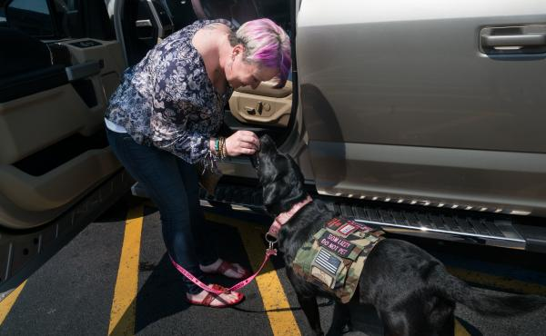 The National Center for PTSD argues that psychiatric service dogs might hamper recovery by rendering veterans unable to function without a dog at their side.