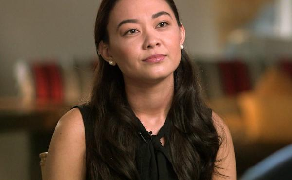 This image released by CBS shows Chanel Miller during an interview on 60 Minutes, set to air Sept. 22.