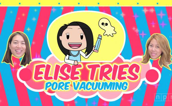 Elise Tries pore vacuuming in South Korea.