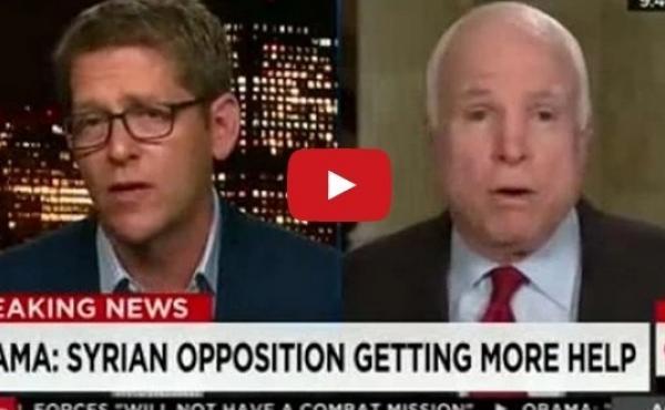 Former White House press secretary Jay Carney and Sen. John McCain (R-Ariz.) faced off on CNN.