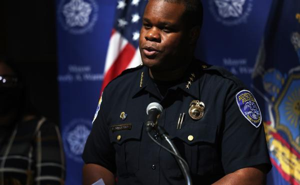 Former Rochester, N.Y., Police Chief La'Ron Singletary, pictured at a press conference in September, was terminated from the department later that month. He will be deposed by members of the Rochester City Council investigating the death of Daniel Prude i