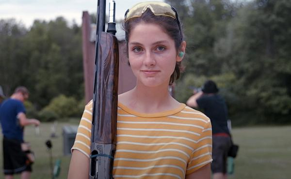 Ashley Courneya was on her high school trap shooting team in Rochester, Minn., with her dad as the coach, before she graduated in June 2018.