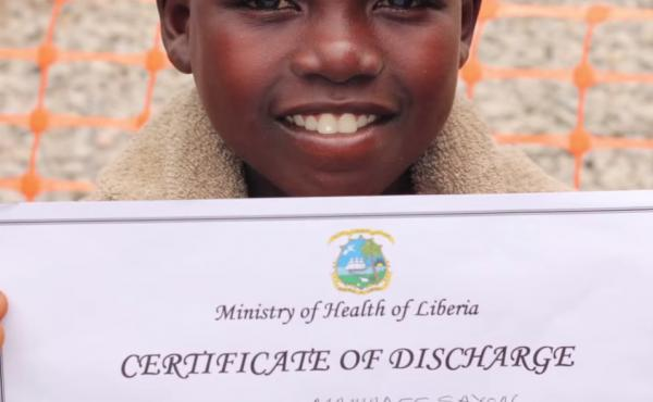 Dance therapy? Mamadee, 11, made everyone happy at the Ebola treatment center with his dancing. He made a full recovery.