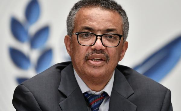 "World Health Organization Director-General Tedros Adhanom Ghebreyesus says that while some COVID-19 vaccine candidates have progressed to phase three testing, the world must remain reliant on ""the basics"" of disease control. Tedros is seen here last month"