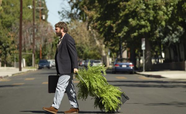 Zach Galifianakis in Between Two Ferns: The Movie.