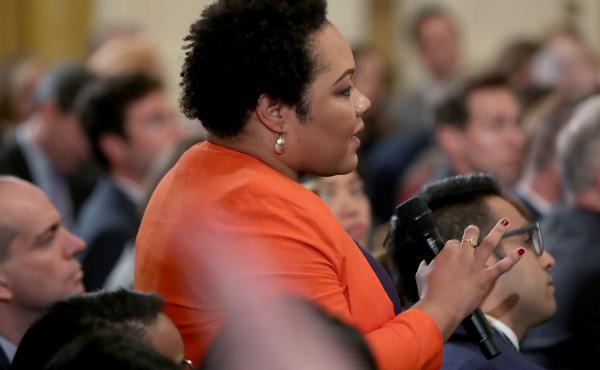 Yamiche Alcindor on Nov. 7, 2018, at the White House.