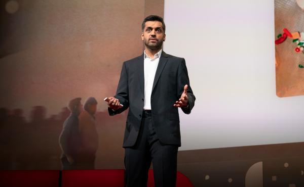 Wajahat Ali speaks at TED2019: Bigger Than Us. April 15 - 19, 2019, Vancouver, BC, Canada. Photo: Bret Hartman / TED