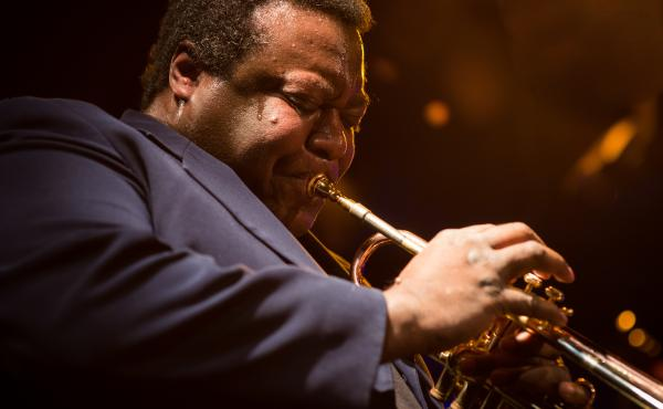 Wallace Roney performing at Le Poisson Rouge in New York, as part of the 2014 Winter Jazzfest. The trumpet player died Tuesday, March 31.