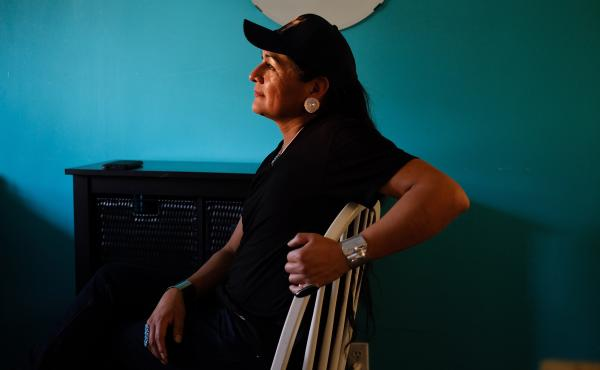"""""""In the Navajo culture, it's a matriarchal society. And with the matriarch, which is my grandmother, once she passes, the next holder is a two-spirit individual; it's usually a male/female, an individual like me,"""" says Travis Goldtooth, who is part of the"""