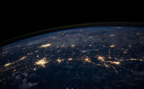 The U.S. Gulf Coast at night.