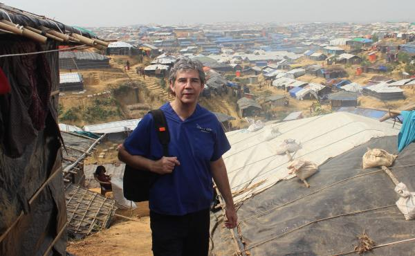 Trauma surgeon David Nott, shown above in Bangladesh, has volunteered in war zones and disaster areas around the world. Now he's treating COVID-19 patients in London.