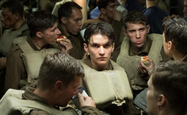 Tommy (Fionn Whitehead), a British soldier desperate to escape the beaches of Dunkirk, is safe — for now.