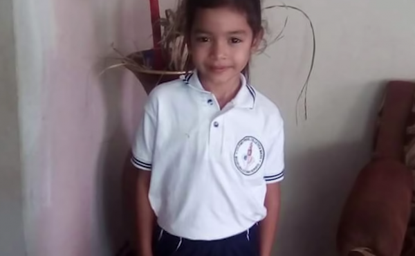 A screenshot from a video produced by ProPublica about 6-year-old Alison Jimena Valencia Madrid who had just crossed into the U.S. before she was detained and separated from her mother. An audio recording of Alison pleading for someone to call her aunt sp