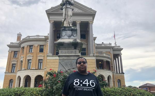 """Demetria McFarland, who is spearheading the move to relocate the Confederate statue, says growing up in Marshall, Texas, """"We always knew what it stood for. It was just one of those taboo things."""""""
