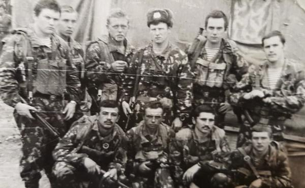 Over half a million Soviet troops served in Afghanistan between 1979 and 1989. Among the first deployed was Rustam Khodzhayev, seen posing here (front row, first from the left) with his special operations unit in 1981.
