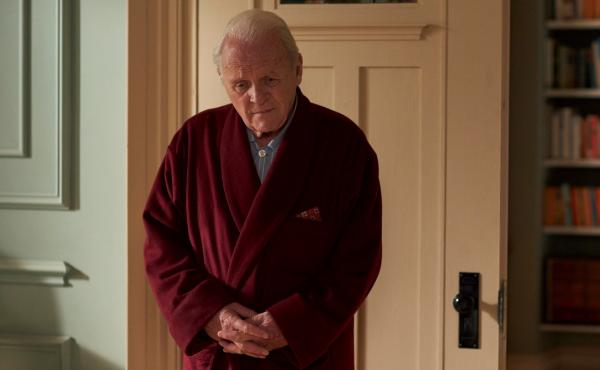 """Anthony Hopkins says he remembers standing at his father's bedside when he died: """"And I remember thinking to myself: Yeah, you're not so hot either, because one day it'll happen to you. This is life."""" Hopkins stars as Anthony, a man experiencing dementia,"""