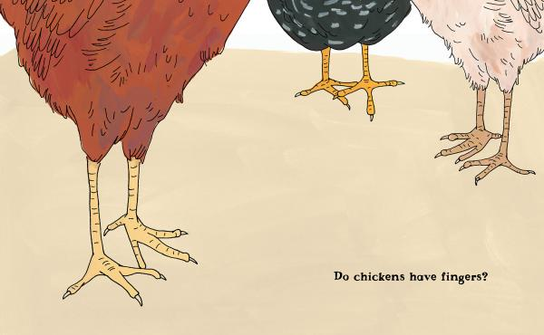 Do chickens have fingers?