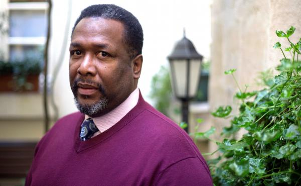 """Wendell Pierce says that live audiences always """"let you know if you're on the right track."""" But filming this new production without a live audience, he said it heightened his focus """"to tell the story as clearly as possible."""" Pierce is pictured above in Pa"""