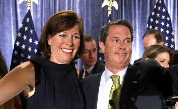 """Wendy Vitter, with her husband, David Vitter, after he was reelected to the Senate in 2010 despite being linked to the """"D.C. Madam"""" scandal. Wendy Vitter is now nominated for a judgeship."""